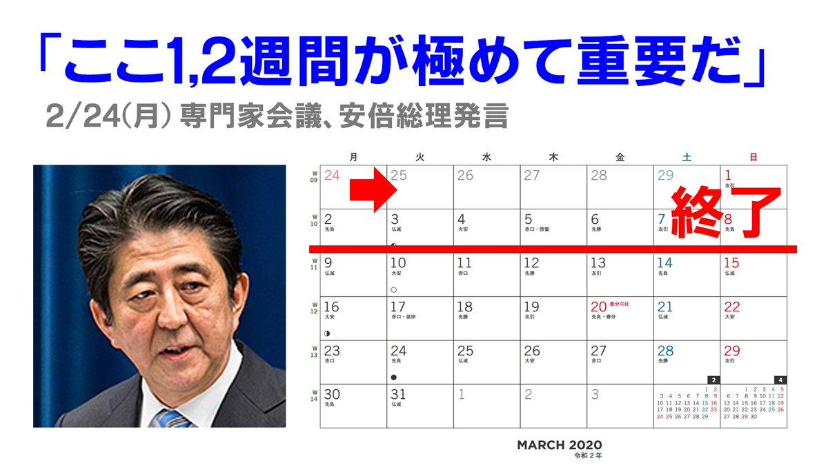 【朗報】安倍総理「最も重要な1、2週間」無事終了!!!!!