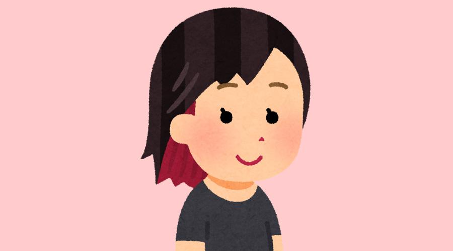 髪の毛の一部を赤色にしてる女の子ってあり?