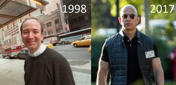 Amazonの社長が筋肉ムキムキでハゲのくせにモテそうなんだが