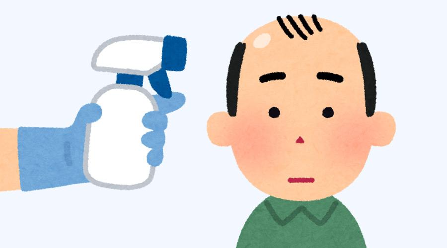 【検証】ハゲ頭に消毒液をかけると・・・