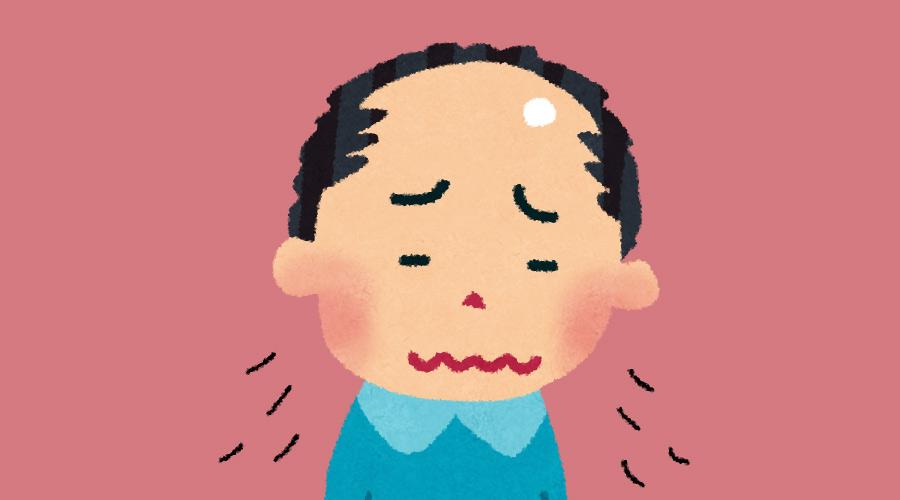 【悲報】ワイ(22)、若ハゲが辛すぎて咽び泣く