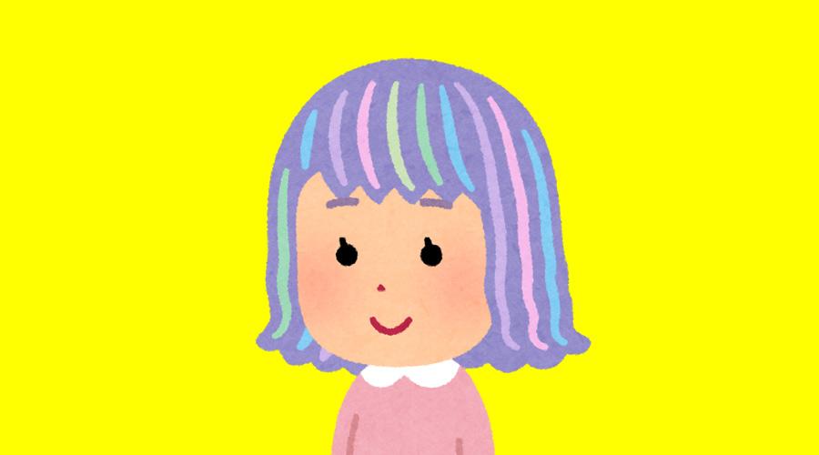 【画像】過去に坊主にしたことがある女子大生、今度は髪の毛をレインボーにしてしまう