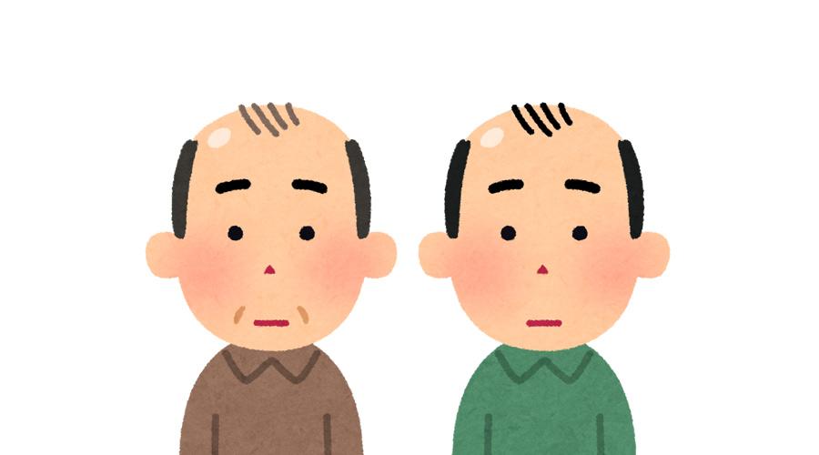 親父ハゲ、母方の祖父ハゲのワイが将来禿げる確率
