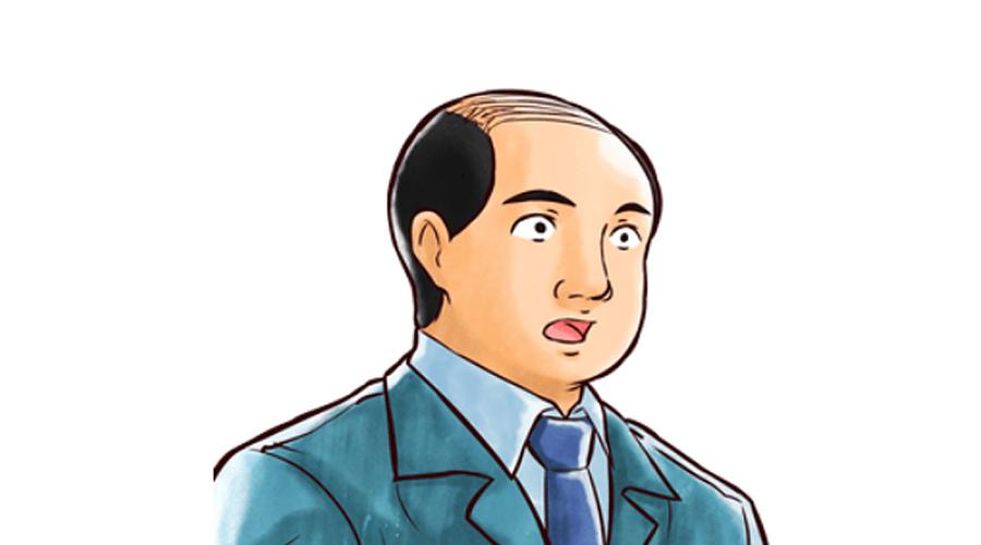 【ハゲ速報】公務員さん、とんでもない髪型で記者会見に登場(画像あり)