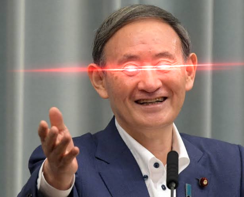 【スダレ悲報】菅総理の目が!!目がぁああ!!!(画像あり)
